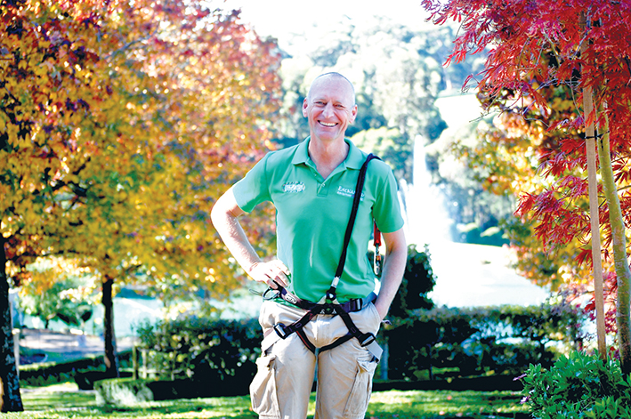 Growth business: Enchanted Adventure Garden owner Michael Savage is off to the finals of the 2014 Telstra Business Awards.