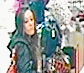 Fake $50 note:  CCTV image of the woman sought by police.