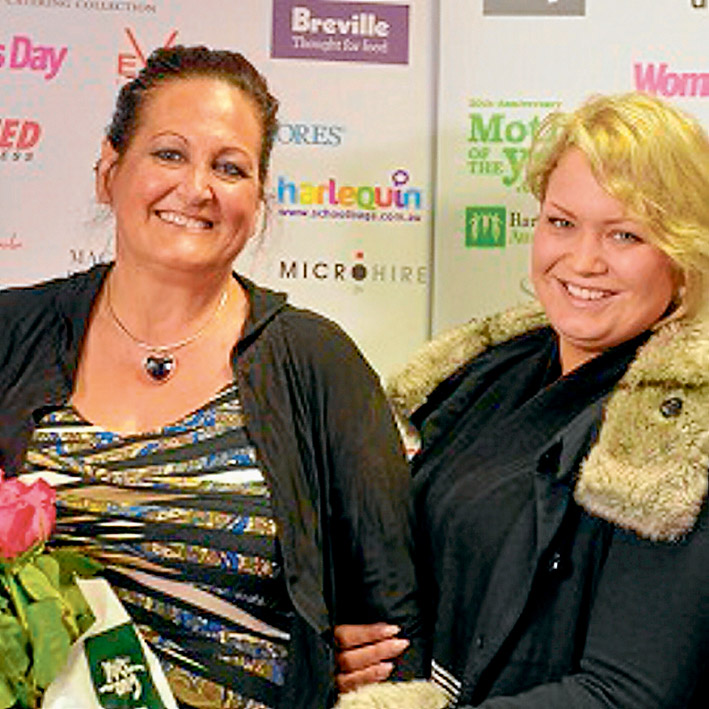 No burden: Dreena Lawrence-Gray, the Barnardos Mother of the Year 2015 national finalist, was nominated by her daughter-in-kind Lana Guest.