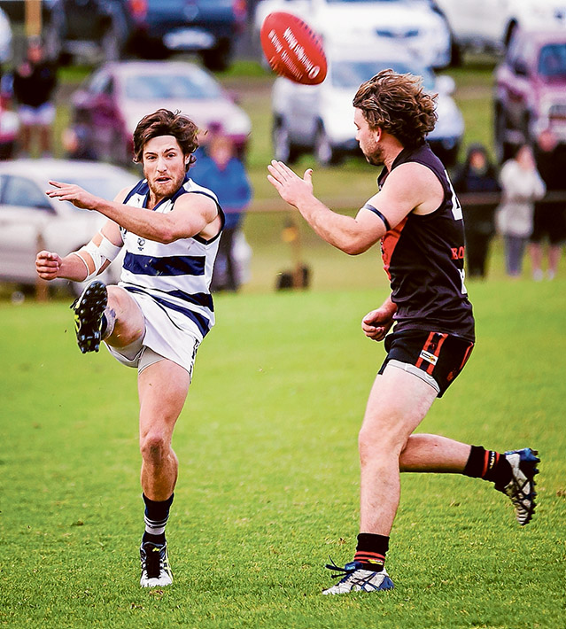 Bomber command: Frankston Bombers came from behind to grab a ten point win over Pearcedale. Picture: Andrew Hurst