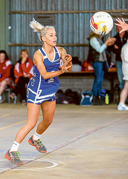 No luck for A-Grade girls: Despite playing an open-style game, the A-Grade girls lost to Red Hill 67 – 12. Picture: Andrew Hurst