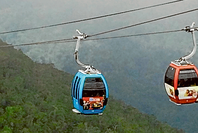 Green light: Mornington Peninsula Shire councillors have given the go ahead to blue gondolas being used by the Arthurs Seat Skylift.