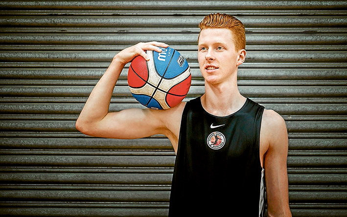 Aiming high: Mornington basketballer Eddie Swan is going to the Unites States on a four-year university scholarship. Picture: Yanni