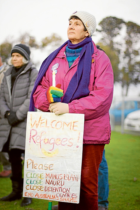 Speaking out: About 50 people attended a prayer vigil in Mornington for asylum seekers. Picture: Cameron McCullough