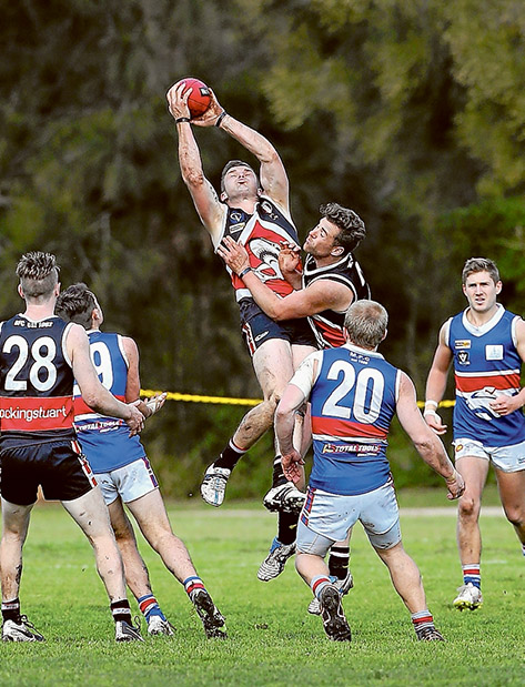 Shark attack: Bonbeach came from behind to beat Mornington by 30 points. Picture: Gary Bradshaw