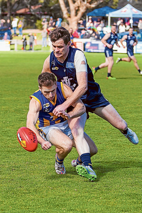 Constant pressure: Somerville had no answer for Rosebud's pressure game, losing by 16 points. Picture: Andrew Hurst