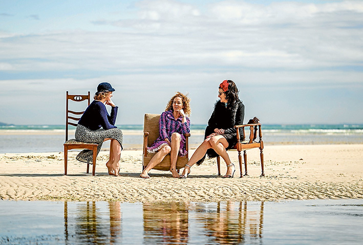 A Woman's Place Julia Ahearne, Elin Smith and Lizzy Leary have stories to tell, and will get their chance as Peninsula op shops combine with performing artists to bring local stories centre stage later this month. Picture: Yanni