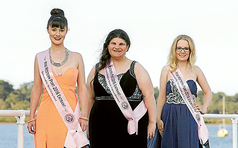 Pageant hopefuls: Three of the 2016 Miss Western Port contestants are Amanda Bann, of Somerville, and Hannah Swinnerton and Laura Reed, of Hastings. Picture: Callie Laine
