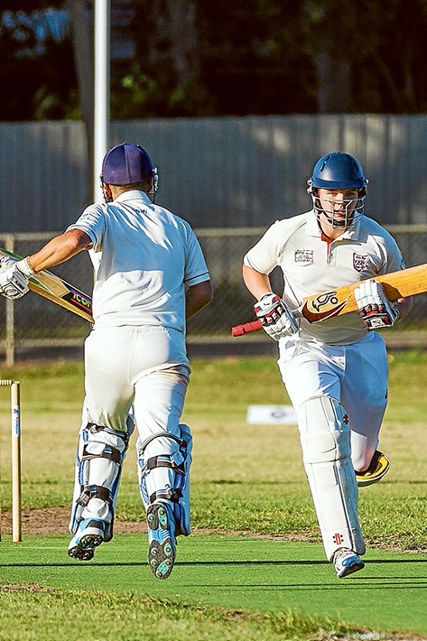 Crossing bats: Ballam Park are chasing nearly 200 runs for victory. Picture: Andrew Hurst