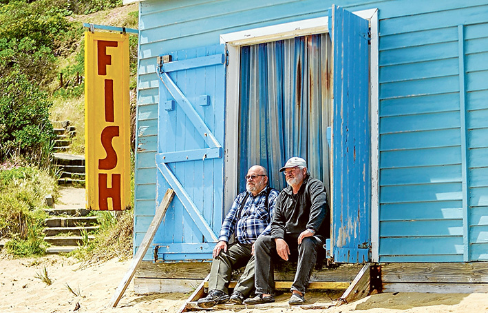 Last gasp: Neville and Dalton Hutchins's Mornington fishing business is doomed as the state government phases out commercial net fishing. Picture: Yanni