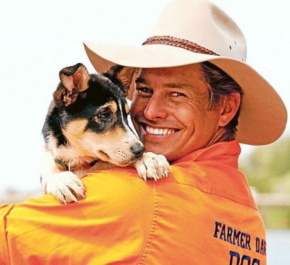 """Bug's ear: """"Farmer Dave"""" Graham is Peninsula Pet Expo's ambassador. He is holding Matilda. Picture supplied"""
