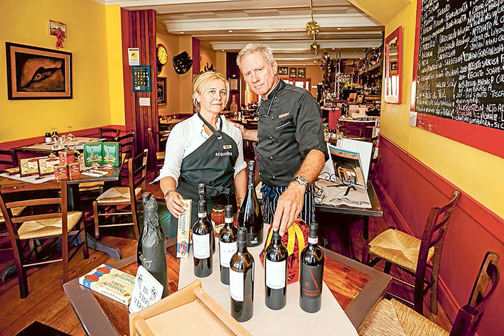 Change of style: Acquolina's Brett Johnson and Maria Grazia Baiguini plan to reopen on Boxing Day with more simple fare before reverting to fine dining in February. Picture: Yanni