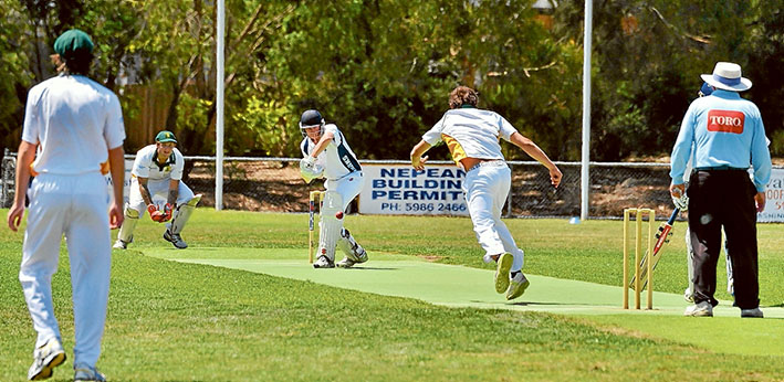 Spin doctor: Some tricky deliveries didn't stop Rosebud's Billy Quigley making a high score for the innings. Picture: Rab Siddhi