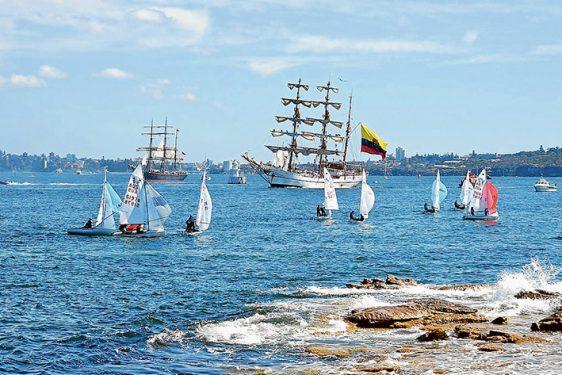 Junior sailors 420 Fleet Sydney 2MN