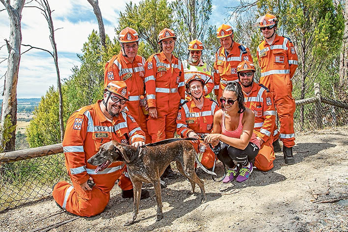 Steep learning curve: A woman is rescued by SES and CFA crews after falling down the quarry wall at Mt Eliza Regional Park, Moorooduc, above; the cliff face from which the woman was rescued, below. Pictures: Gary Sissons