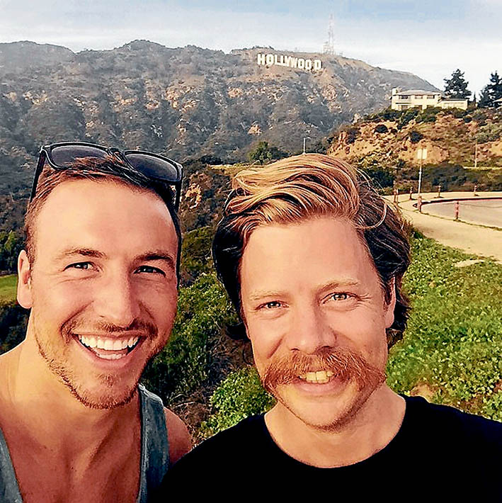 Toast to Hollywood: The memobottle designed and produced by Jonathon Byrt and Jesse Leeworthy is included in the sought after gift bags being handed out at this year's Oscar awards in Hollywood. The pair hope their reusable bottle will help reduce plastic pollution,