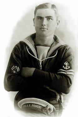"Above: Leading Signalman Albert Norman Charles ""Bunts"" Thomson, RN/RAN"