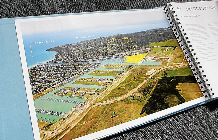 Filling in the gaps: The yellow shaded area shows the proposed Martha Cove Village Centre.