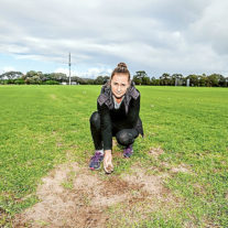 Upgrades a waste  of money: Southern Peninsula Little Athletics Centre president Donna Nettlefold, left, shows examples of the damage – and calls for improvements. Picture: Yanni