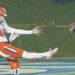 Hang time: New York Jets punting pick Lachlan Edwards shows his skills. Picture: Brian Blalock/SHSU