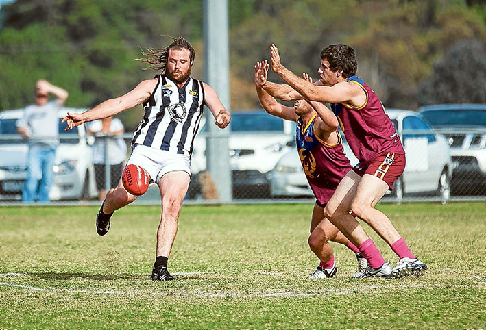 Pie in their face: Crib Point managed their first win of the season against Tyabb. Picture: Andrew Hurst