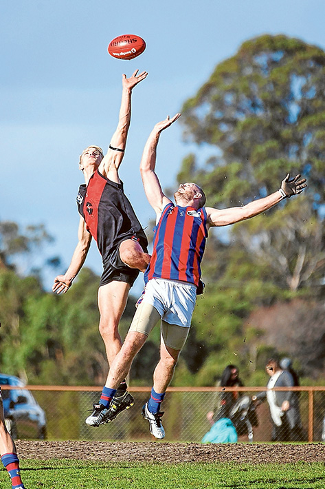 Demons in hell: Rye were smashed to the tune of 75 points by Frankston Bombers. Picture: Andrew Hurst