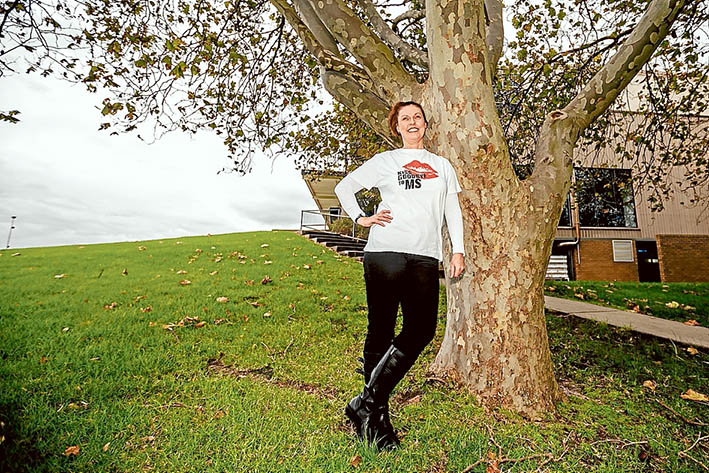 Perfect day: Donna Bradley-Robinson hopes to raise a lot of money for multiple sclerosis research. Picture: Yanni