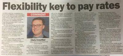 Flexibility key to pay