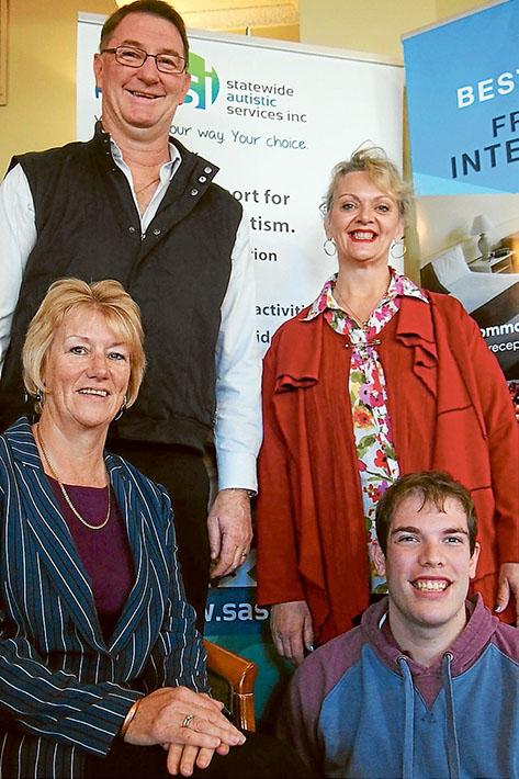 Phil Jones (The Frankston International), Lucy Nicolson, Kath Ferry (SASI CEO) and Jarrod from Beachlynn SASI Day Service.
