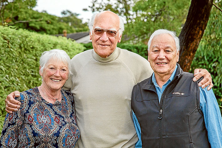 Three of a kind: Joyce Carlin, Peter Aburrow and Barry Peter Aburrow. Picture: Gary Sissons