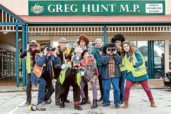 Greg Hunt Protest