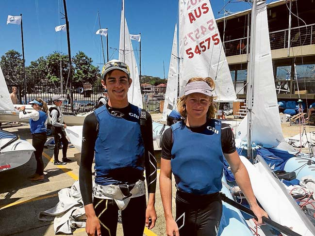 Award winners: Above, Youth Sailors of the Year Nick Sharman and James Grogan; below, congratulations for Female Sailor of the Year Sophie Ciszek; and bottom, Tanya Lawton, Jason Ettridge and John Mills won Yachting Victoria's President's Award for rescuing three fishermen off Mornington. Pictures: Supplied