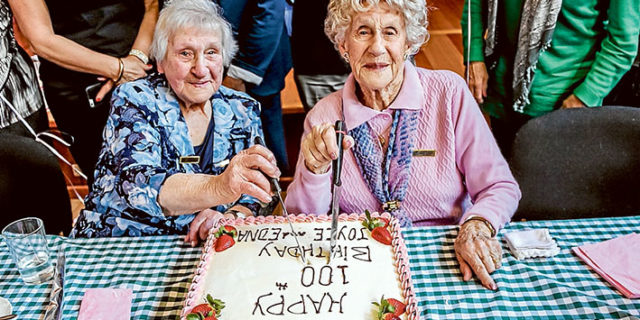 Best wishes: Joyce Milne and Edna Arnot were guests of honour at Tootgarook seniors' birthday bash.