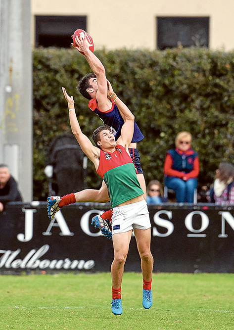 High flyers: Mt Eliza beat Pines by a whopping 61 points. Picture: Scott Memery