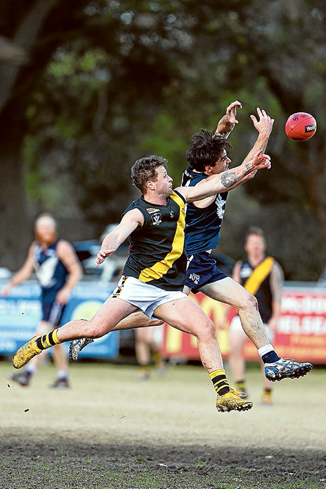 Tigers win in a thriller: Seaford just managed to hold off Edithvale to take home a two point win. Picture: Scott Memery
