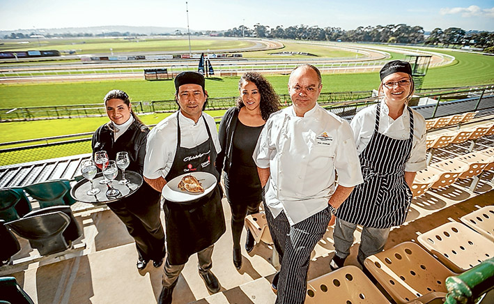 Bon appetite: Chisholm students are preparing meals with local produce at Mornington Racing Club. Picture: Yanni