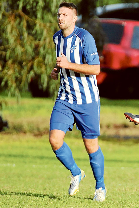 Star striker: Baxter spearhead Mark Pagliarulo. Picture: Darryl Kennedy