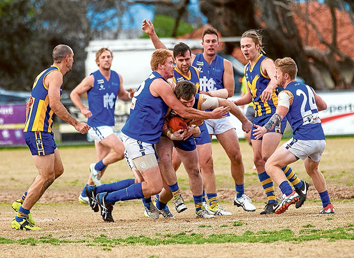 Eagles soar: Despite never giving up, Hastings went down to Somerville by nine points. Picture: Andrew Hurst