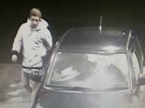 Petrol theft: A member of the ram raiders' gang caught on camera stealing petrol from Coles Express service station in Narre Warren North. Picture: Supplied