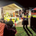 Cold comfort: Urban Seed CEO David Wilson speaks at the sleep-in-your-car event organised by Fusion Mornington Peninsula at Mornington Park.