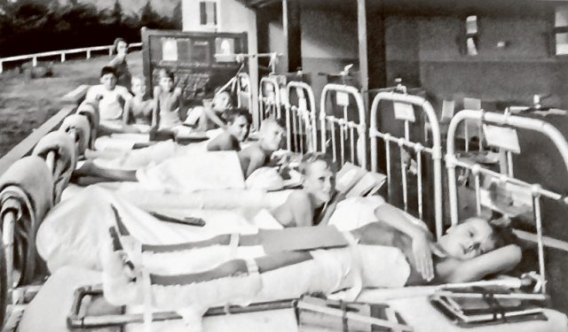 Different times: Frankston Children's Hospital in Mt Eliza cared for children with polio.