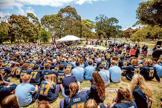 War memorial: A tree-lined avenue honouring the sacrifices of men and women of Mornington in World War I was officially opened on Friday by  the Governor-General Sir Peter Cosgrove. Picture: Yanni