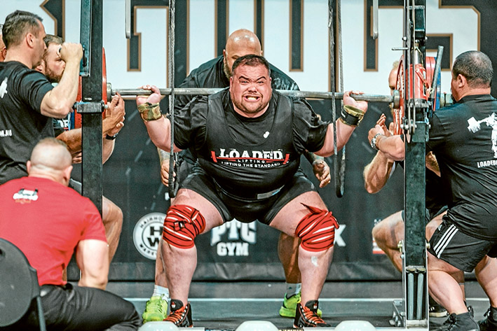 Lifters not leaners: Frankston's Gawain Johnstone went up against international powerlifters last weekend. Picture: Gary Sissons