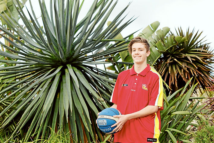 High hopes: Western Port junior Tom Bahen looks forward to a career shooting ball. Picture: Basketball Victoria Country