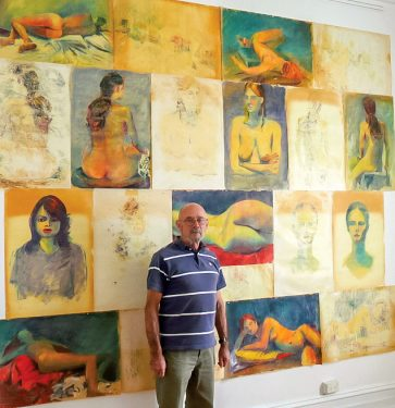 Art by figures: Mornington-based artist John Trebilco has joined the Peninsula Studio Trail which has seen studio doors opened on an annual basis for the past seven years.